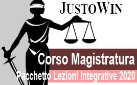 CORSO MAGISTRATURA - PACCHETTO LEZIONI INTEGRATIVE 2020